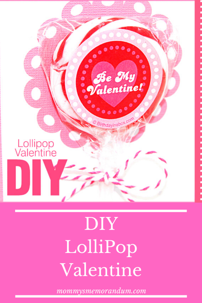 These adorable Valentines use a pretty swirl lollipop..but you can add your own favorites!