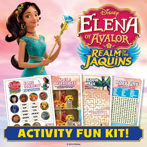 PRINTABLE ACTIVITIES FOR ELENA OF AVALOR: REALM OF THE JAQUINS My kids love themed activities that go along with shows they enjoy watching. These printable pages are a fun way to turn a little TV time into learning time. Activities include spot the difference, word find, maze, and name connect. #elenaofavaloractivities #elenaofavalor #freeelenaofavalorprintables