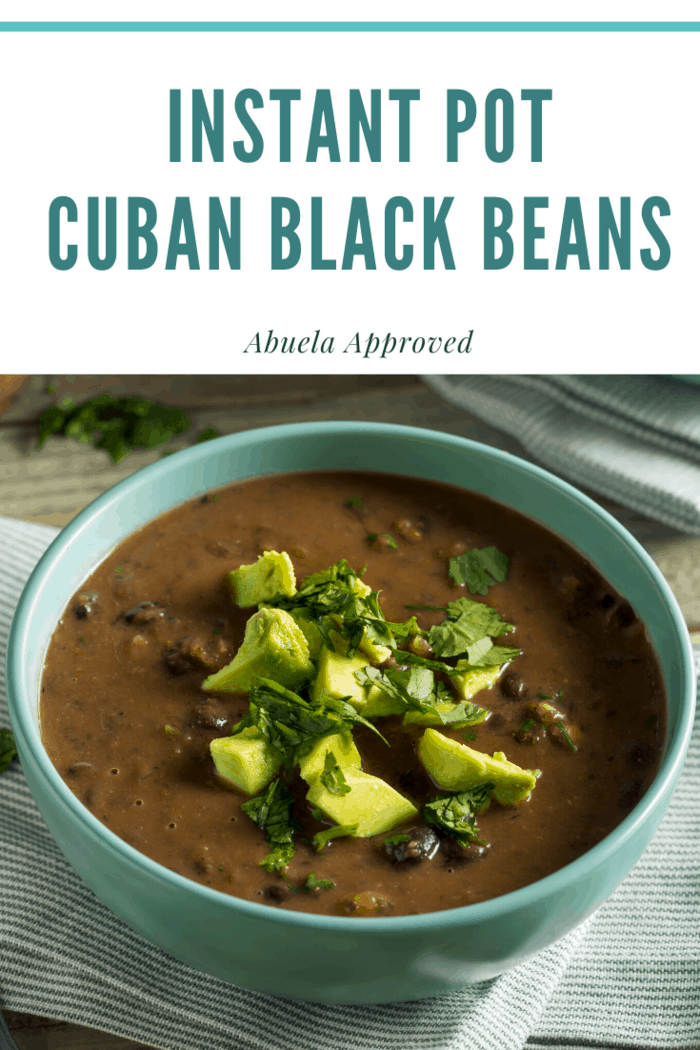 Instant Pot Cuban Black Beans. So delicious, they're Abuela approved.