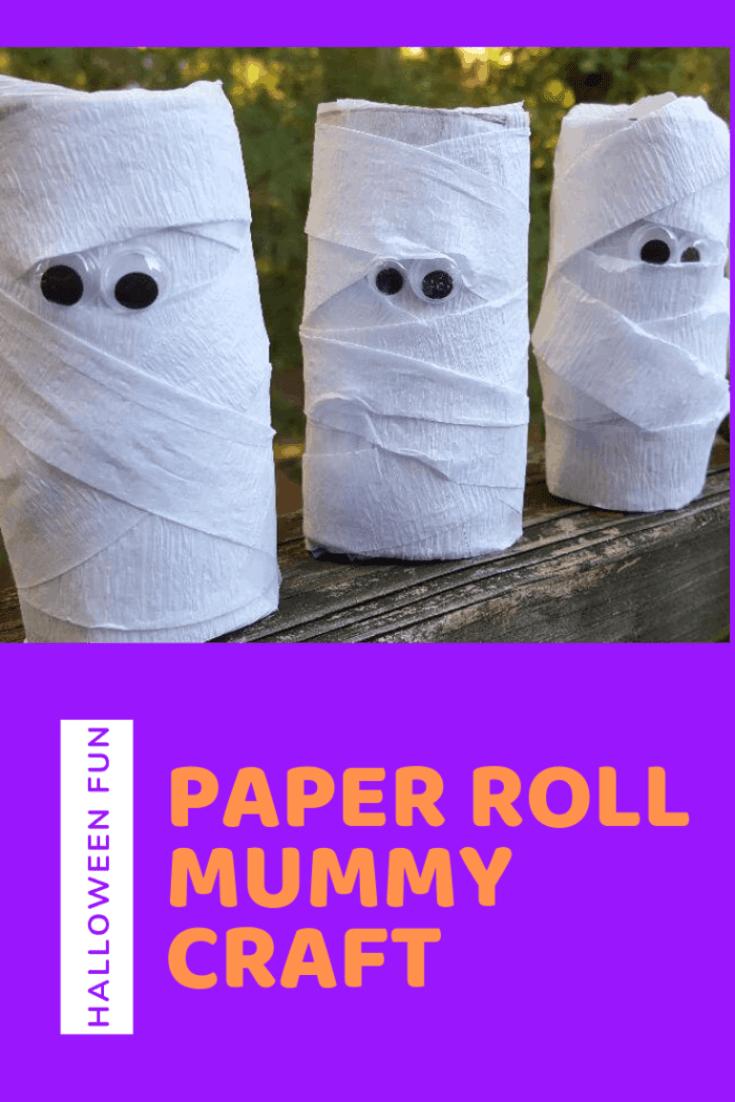 paper roll mummy craft-halloween fun