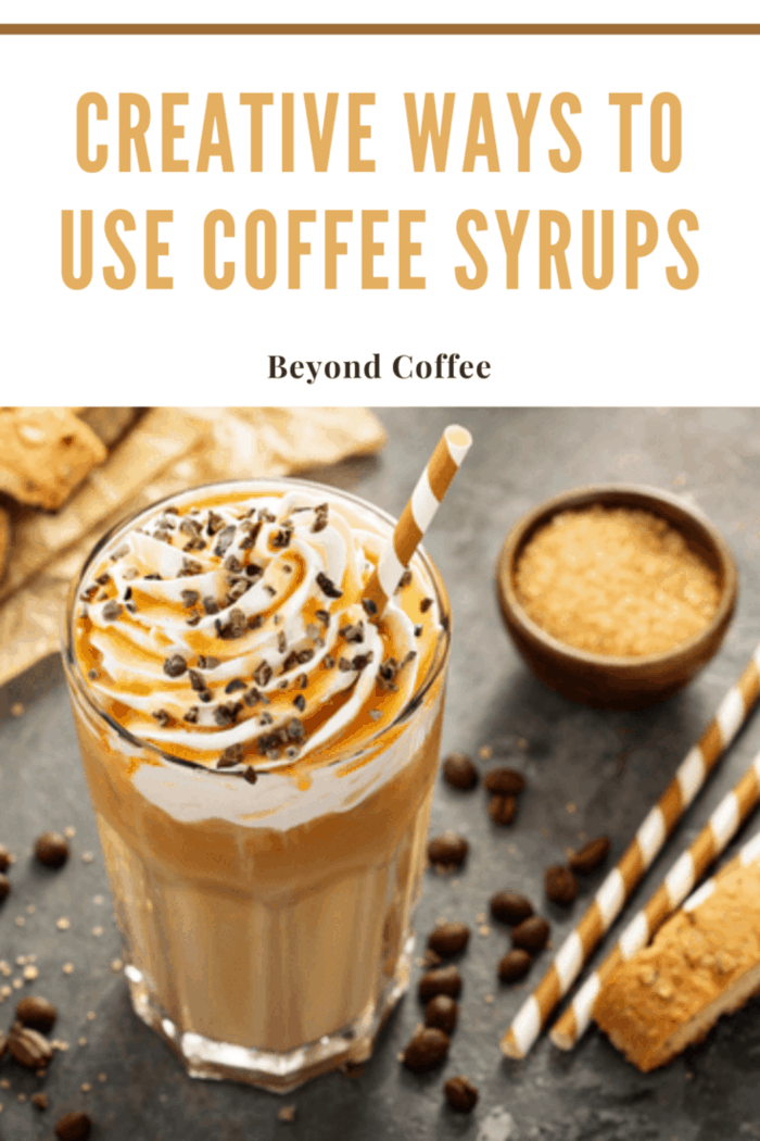 carmal coffee flavored with coffee syrups