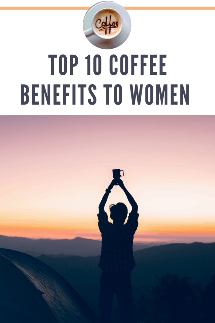 woman doing yoga holding cup of coffee