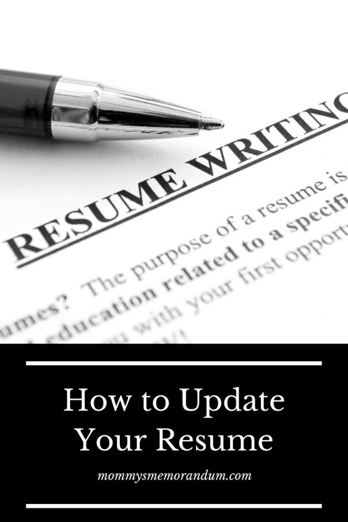A resume for moms returning to the workforce will have a time gap in it.