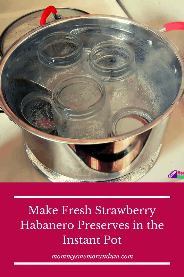 While the strawberries are cooking, fill a large pot that will hold your pint jars 3/4 full with water, set over high heat and bring to a boil.