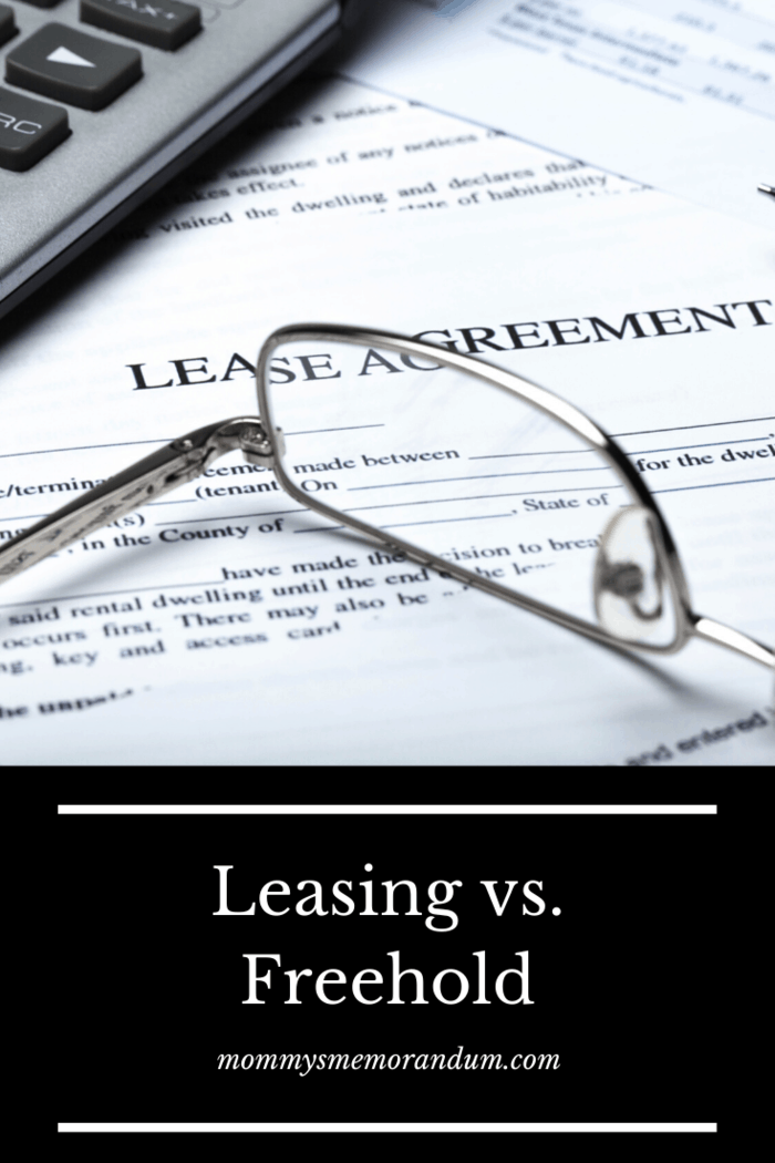 When you are looking at properties, you will probably have encountered terms like leasehold and freehold.