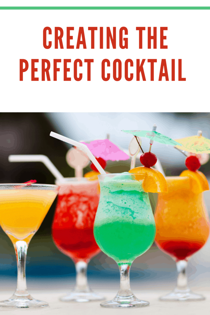 4 different types of cocktails for cocktail party