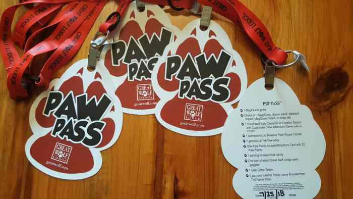 great wolf lodge williamsburg paw pass