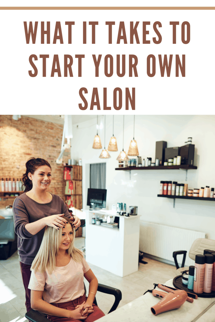 woman at salon getting hair done