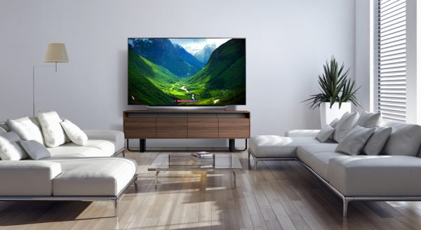 lg oled tv ai thinq in living room