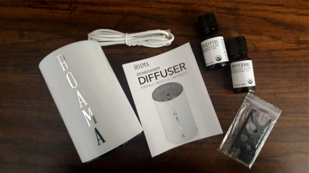 roama aromatherapy diffuser whats included