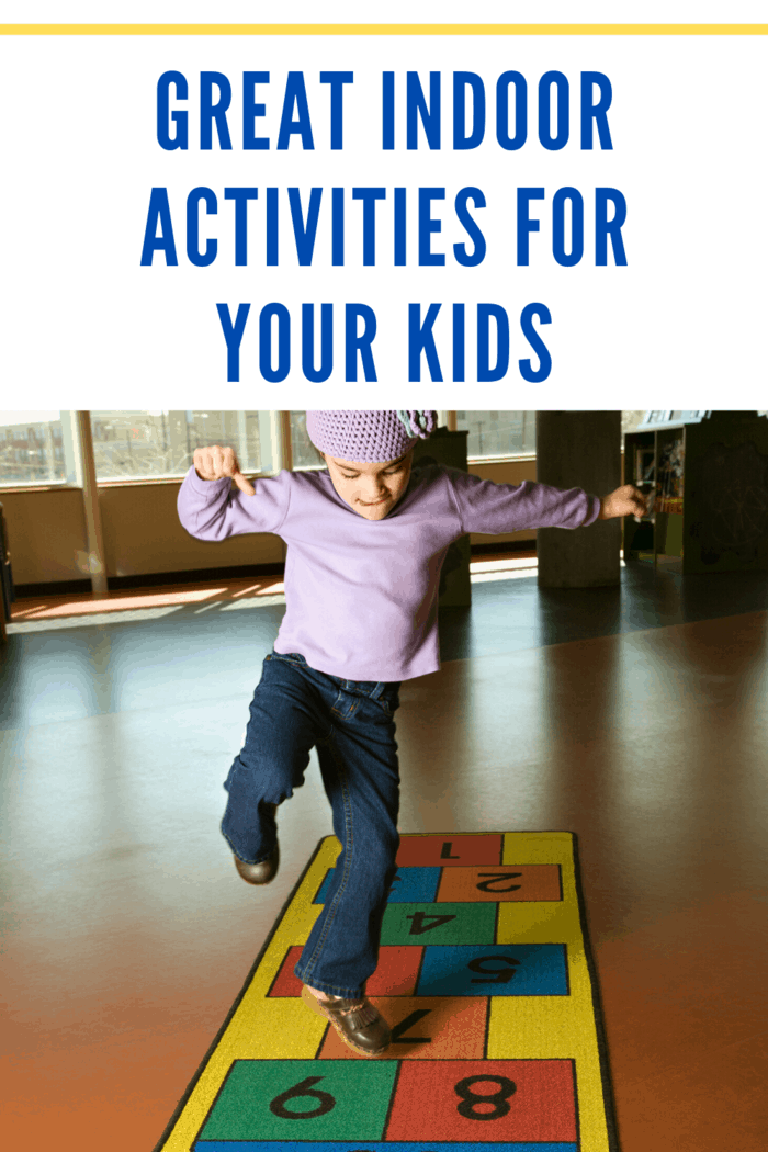 Another game designed to test your children's balance, but also hand-eye coordination is hopscotch.
