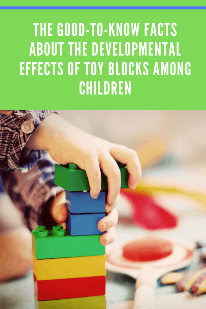 Block play shows a significant impact on the spatial ability of children. One study shows that children ages 4 to 7 years-old who engage in spatial play, such as playing with puzzles, building blocks, and board games have increased spatial ability.
