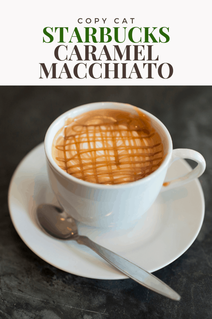 Enjoy this perfect homemade alternative to Starbucks caramel macchiato.