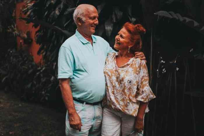elderly couple living at home