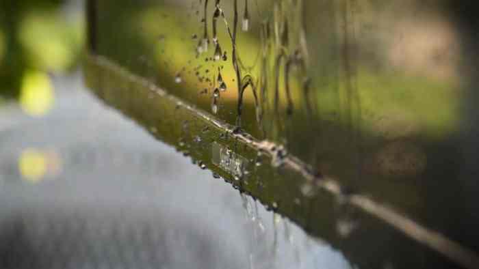 sunbrite tv in the rain