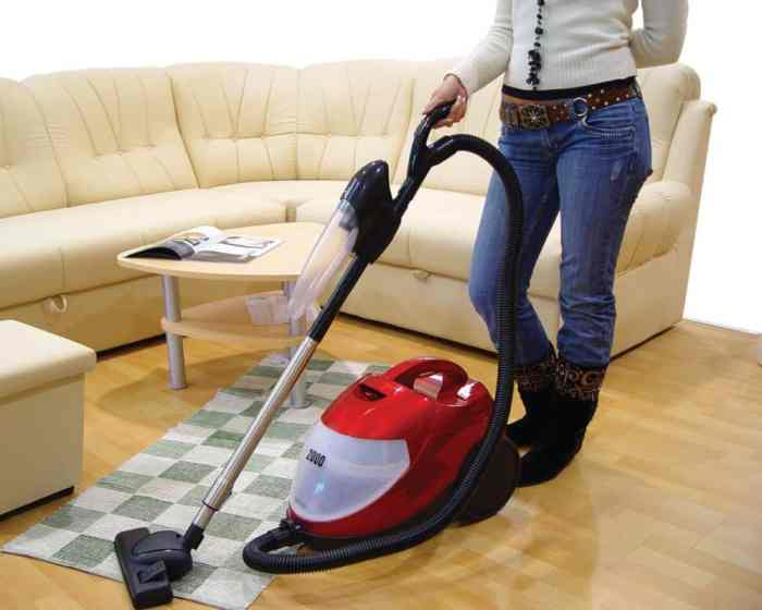 vacuum cleaners being demonstrated