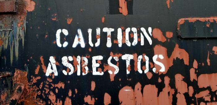caution asbestos sign test for asbestos