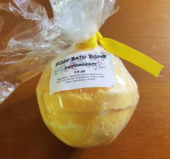 fizzy bath bomb lemongrass