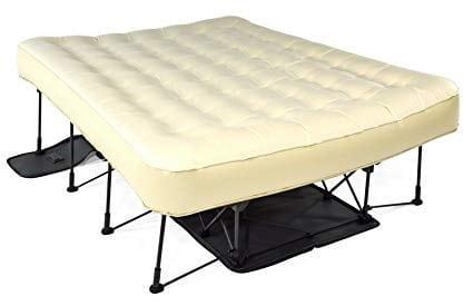 frame with air mattress