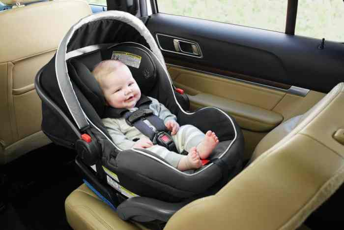 Infant car seat rear facing