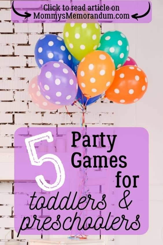 Children love everything about parties; playing, spending time with other children and jumping around