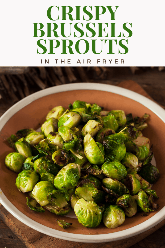 These Air Fried Crispy Brussels Sprouts are going to be your new favorite go-to side dish. #airfryer #airfryercrispybrusselsprouts, #brusselsprouts #crispybrusselsprouts #crispybrusselssprouts #airfriedbrusselsprouts