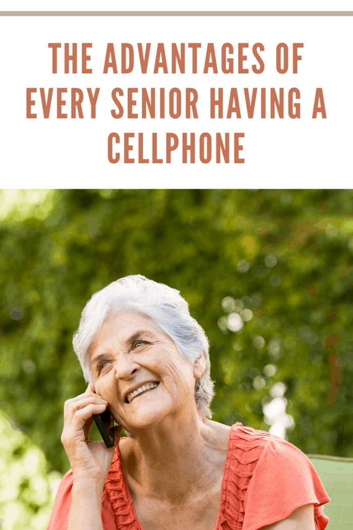 A Grandmother talking on a cellphone.