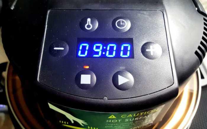 set timer to 9 minutes