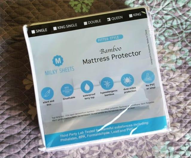 milky sheets bamboo mattress protector