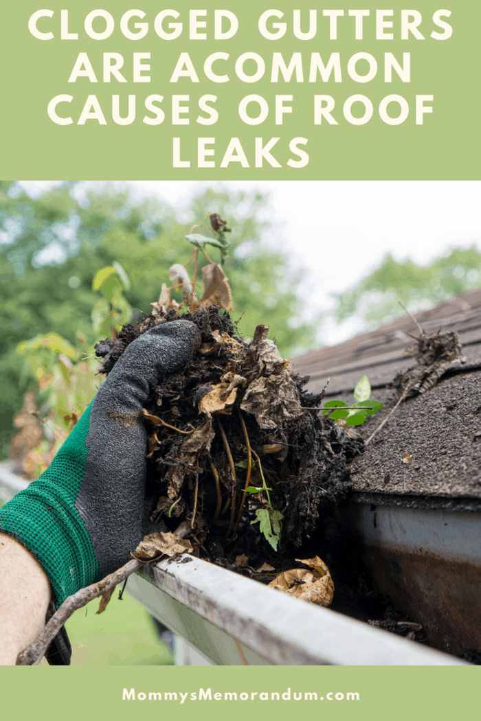 A clogged gutter will not only lead to leaks on the roof but can also damage the fascia of the home.