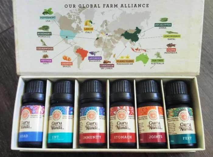 "My current GuruNanda obsession is their Whole Body Essential Oil Benefits Pack. It features six amazing essential oils that help maintain the optimal well-being of the body and mind. It's a complete ""farm-acy"" with six different synergistic blends of pure essential plant-based oils."