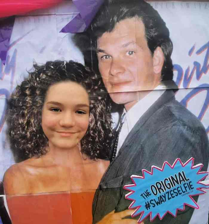 #swayzeselfie at the shop d. marie booth at Lake Lure, NC Dirty Dancing Festival
