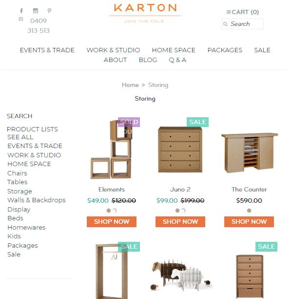 Karton offers innovative cardboard furniture
