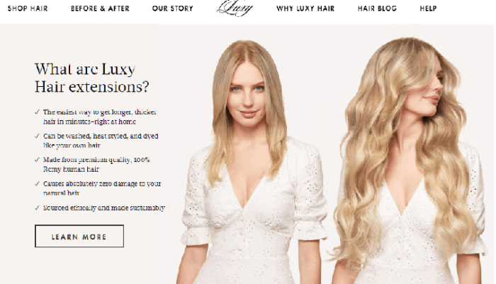 Luxy Hair offers stylish hair extensions