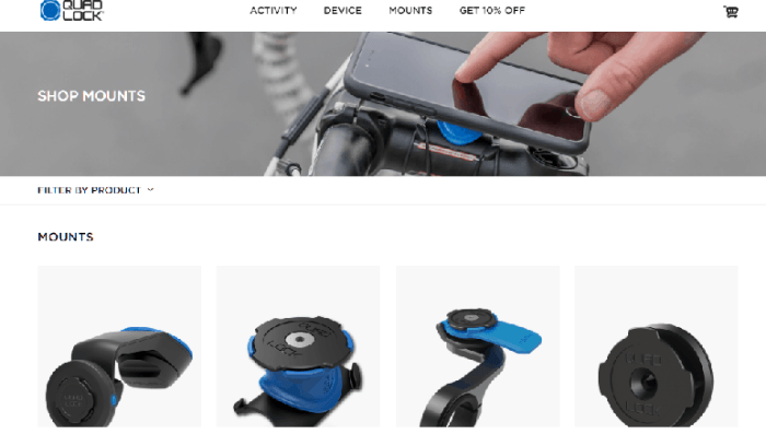 Quad Lock sells smartphone mounts
