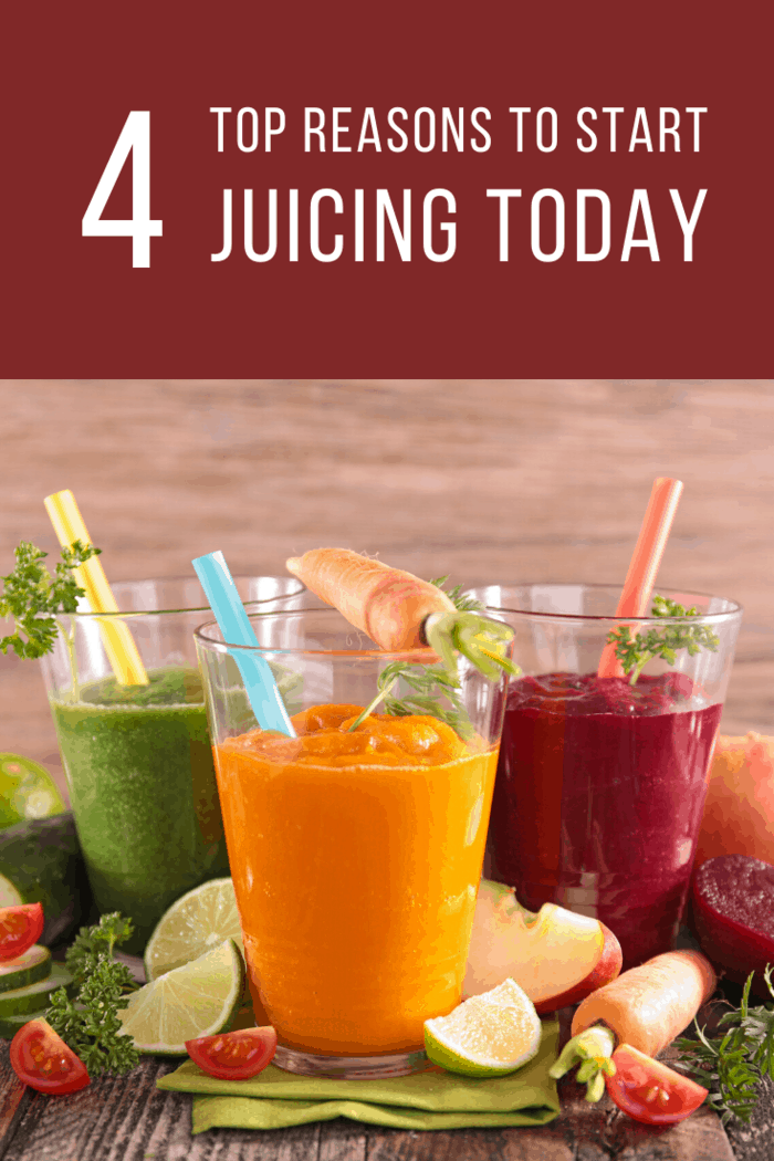 We've compiled a list of 4 reasons why people should juice. Remember, juicing alone doesn't automatically make you healthy, but it offers a great start.