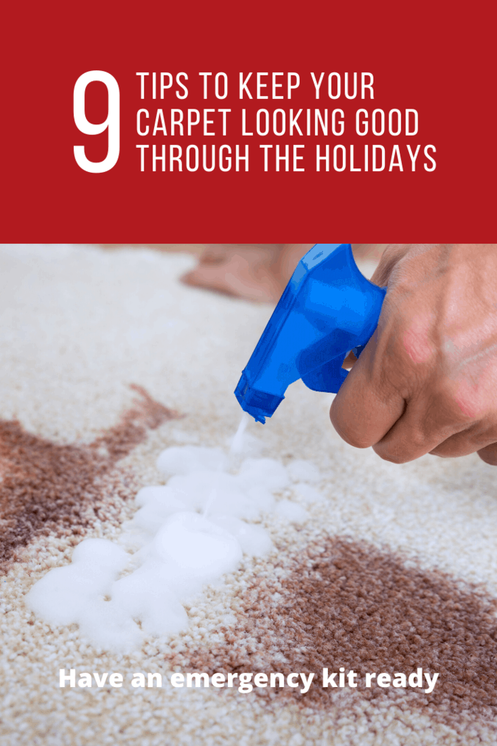 You need some simple items readily available just in case there are stains. This will help in protecting the carpets.