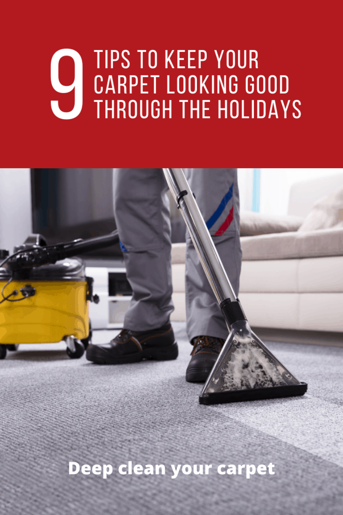 Consider getting a carpet cleaner one of the weekends if you wish to clean the carpet by yourself. You can also call a professional if you want the best finish.
