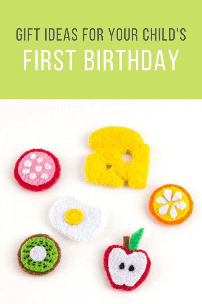 Gift Ideas for Your Child's First Birthday: Felt food Toys could be an exciting gift for your toddler and help you in feeding them better