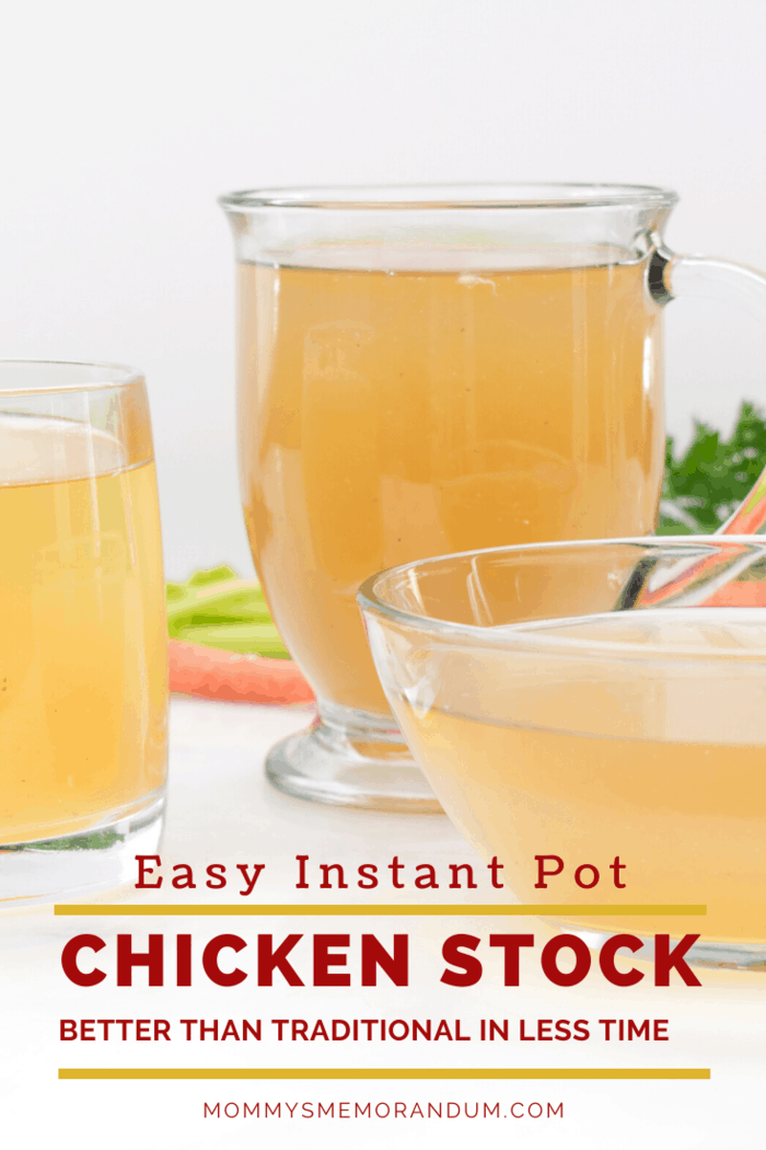 Chicken stock is a staple at our house, and this recipe is perfect as the Chicken Stock can be made 4 days ahead. Cover and refrigerator, or freeze in freezer bags or ice cube trays for up to six months.