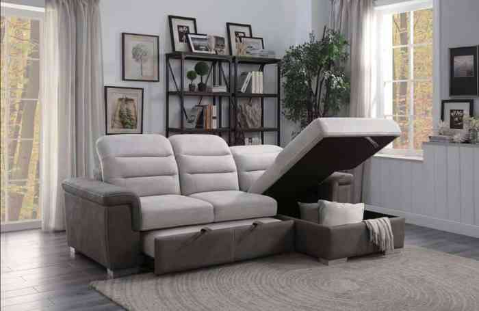 Sofa beds with storage are the most practical pieces of furniture that you can buy in stores.