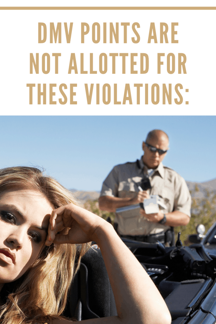 DMV Points Are Not Allotted For These Violations:
