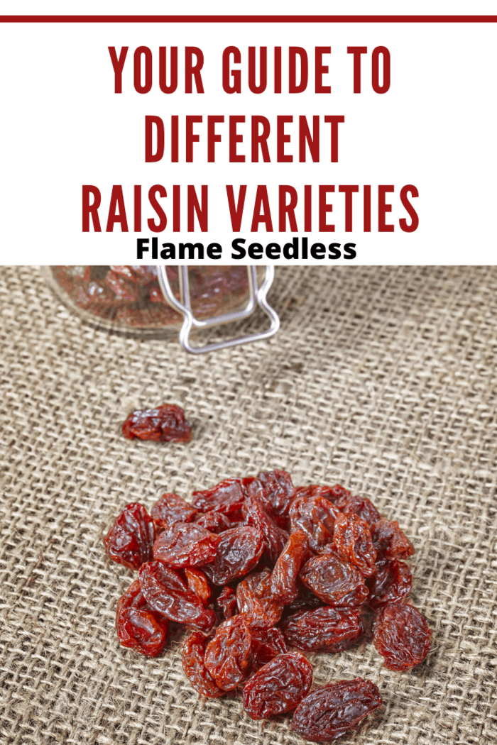 Flame Seedless raisins are made from Flame Seedless red grapes.