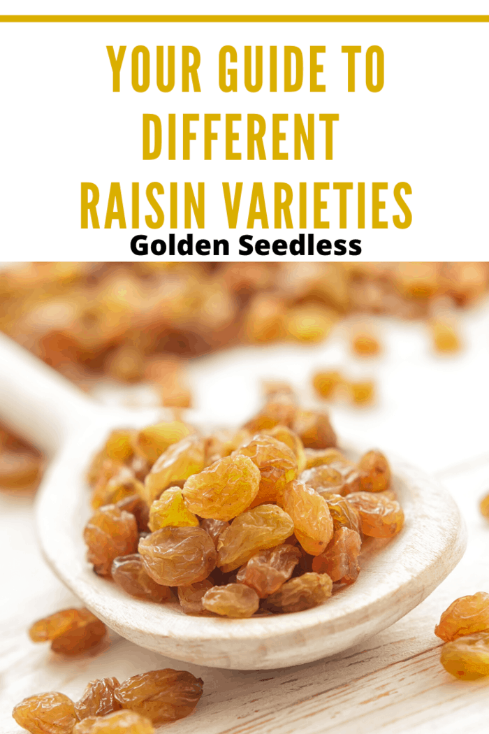 As the name suggests, Golden Seedless raisins have a golden color.