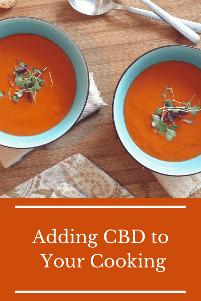 A great way to add your CBD tincture is in a soup or a sauce because it makes sure that every bite offers a little bit of CBD without having the CBD overwhelm the food's taste.
