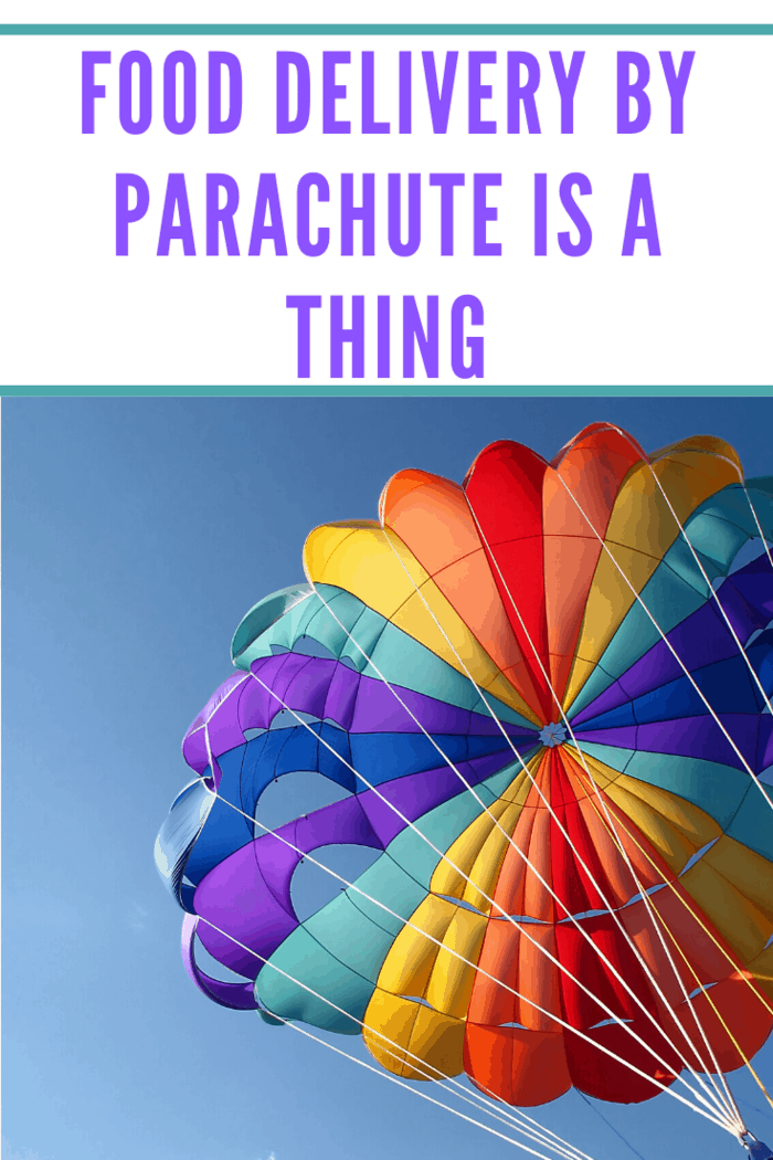 This might seem like an insane idea, but the world has already witnessed parachutes delivering food to customers.
