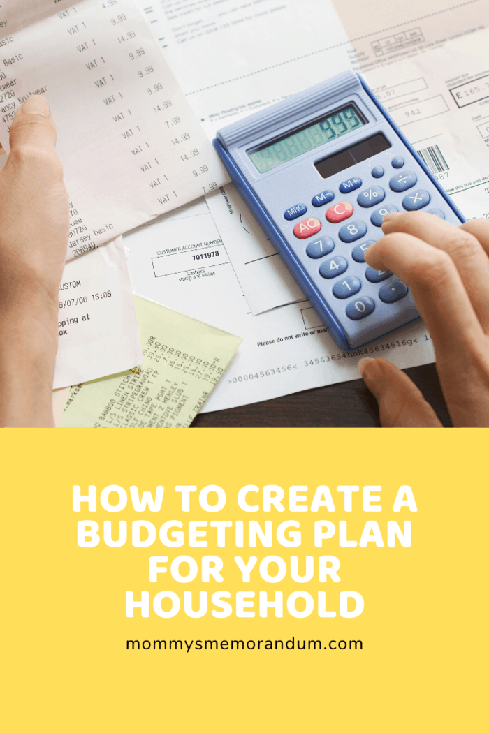 If you're planning to create a budget plan for your household, here are some tips to help you.