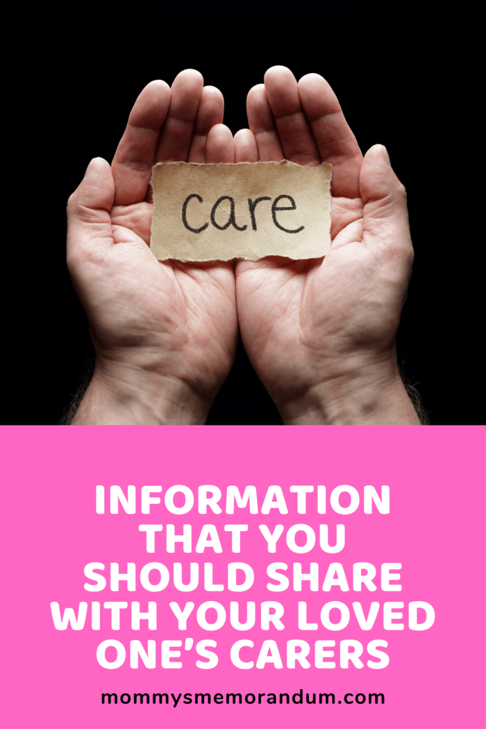 When sharing information with your loved one's caregiver, they should know the questions to ask so that you don't even have to think about it.