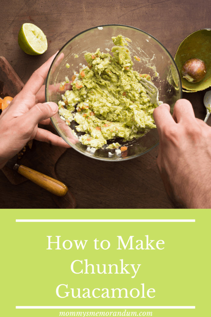 here is how to make the best chunky guacamole