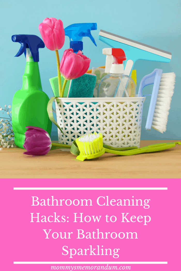To make bathroom cleaning even easier, keep a supply of cleaning products under your bathroom sink.